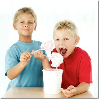 2 boys happily eating ice cream - do they have ADHD too?