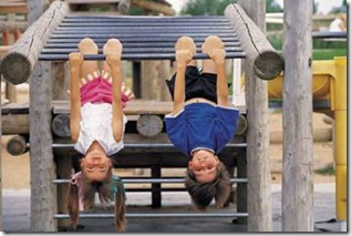 Kinesthetic kids at the playground
