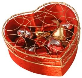 Heart-shaped box of chocolate