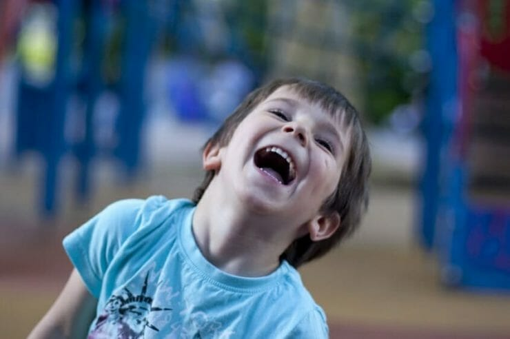 Active little boy laughing - that's not ADHD