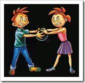 Kids fighting over ball