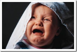 Baby crying bitterly