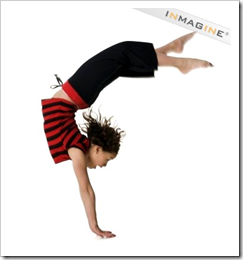 Girl doing a handstand