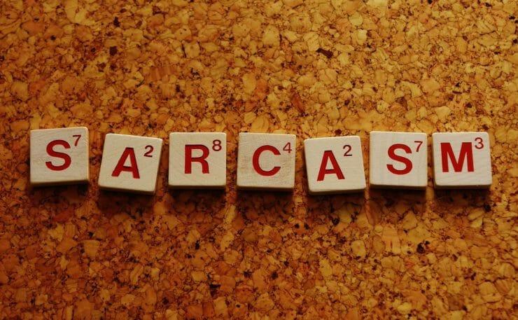 Sarcasm in Scrabble blocks