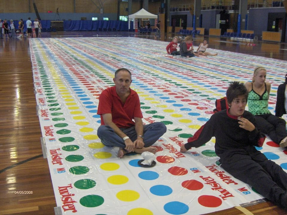 Guinness World Record for biggest Twister mat