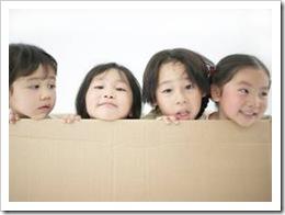 Kids peeking