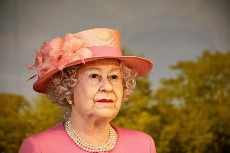 Wax figure of Queen Elizabeth