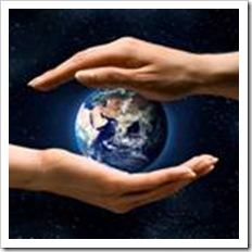 Earth between two hands