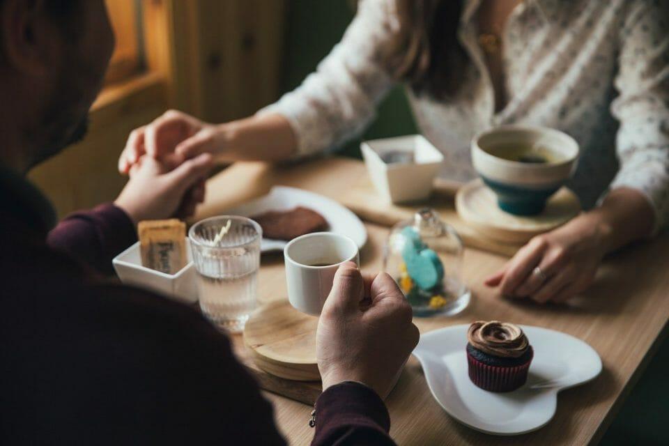 Couple having a romantic breakfast