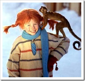 Pippi Longstocking with Mr Nilsson