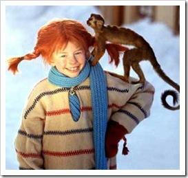 Pippi Longstocking with Mr Nilsson