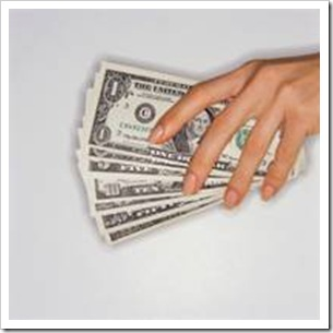 Hands with dollar notes