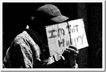 Hungry beggar