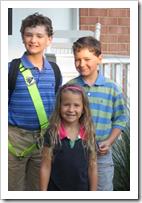3 school-age kids