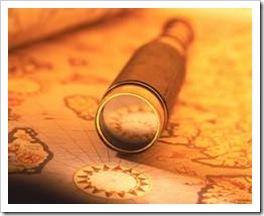 Spyglass on a navigation map