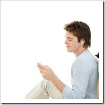 Teen boy with ipod