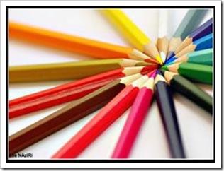 Colorful pencils help you teach kids colors