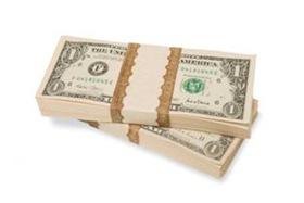 Stacks of dollar notes