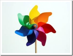 Colorful wind spinner