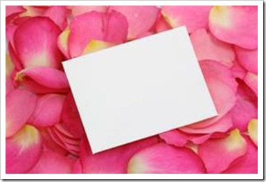 Paper on rose petals