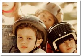 Boys in helmets