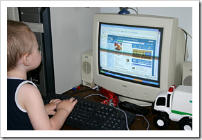 Little kid on the Internet