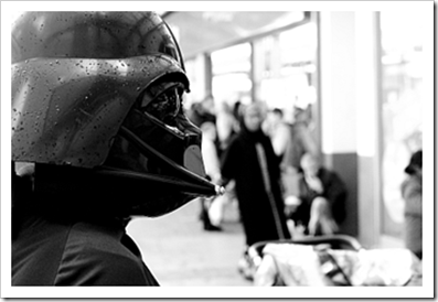 Darth Vader look alike