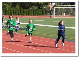 Kids in a running competition