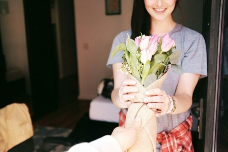 "Giving flowers is a great way to say ""I love you"""
