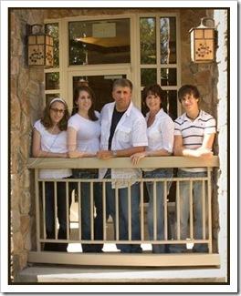 Family on balcony