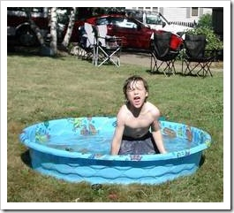 Kid in a pool