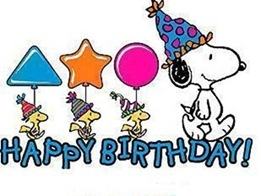 Happy Birthday with Snoopy and friends