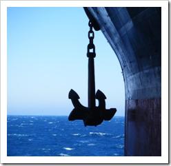 Large ship's anchor