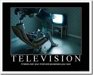 Teen in front of TV