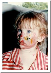 Girl with painted face