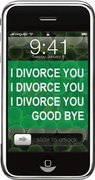 Divorce by SMS