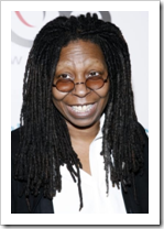 Whoopi Goldberg with special glasses
