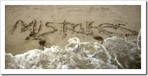 Mistakes written in the sand