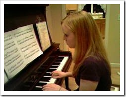 Teen piano player