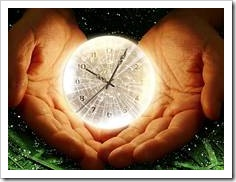 Clock in crystal ball