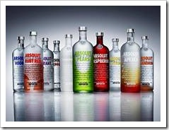 Bottles of vodka
