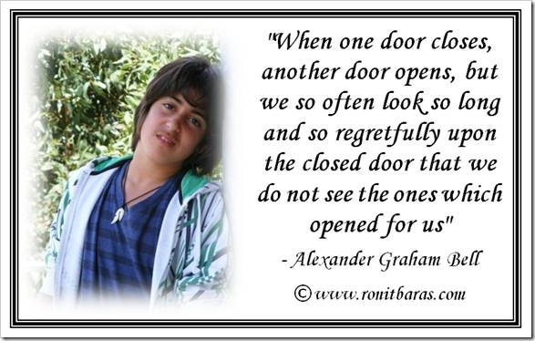 When one door closes, another door opens
