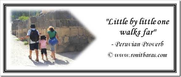 Little by little one walks far