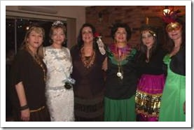 Women at a costume party