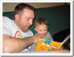 Dad reading a story