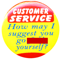 Customer Service button