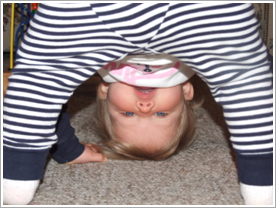 Baby upside down