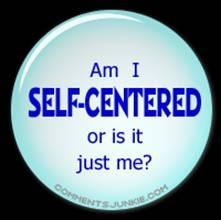 Self centered button