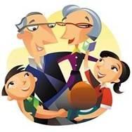 Grandkids with grandparents