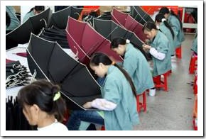 Chinese umbrella factory
